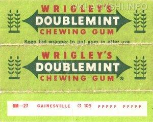 Жвачка в пластинках фирмы Wrigleys