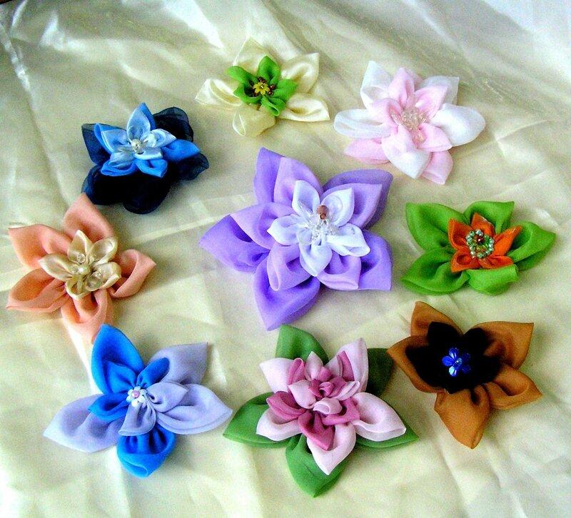 Цветы из своими руками из вуали 169