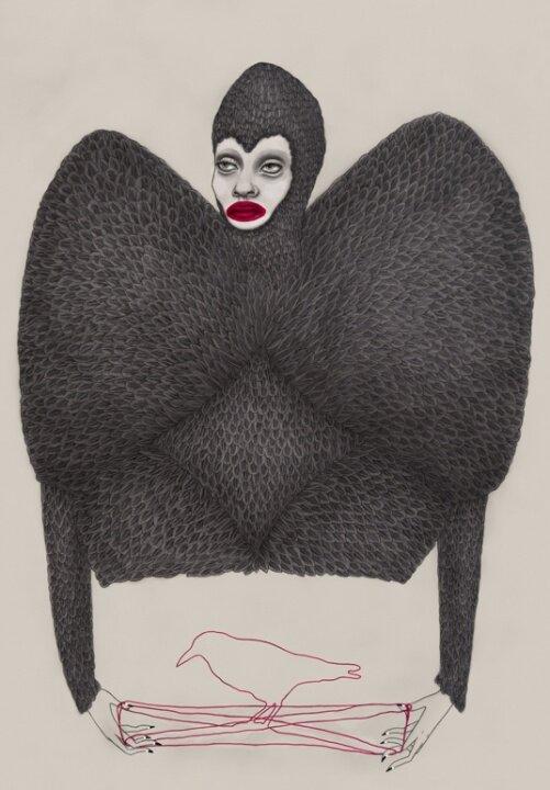 Тара Дуганс / Tara Dougans. Плащущий анимированный сюр. 20 работ.