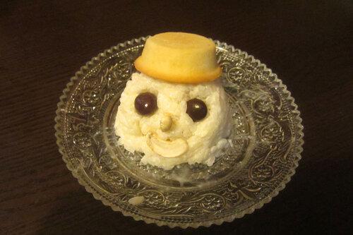 День #104. Рисовый снеговик