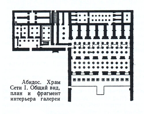 Храм Сети в Абидосе, Египет, план