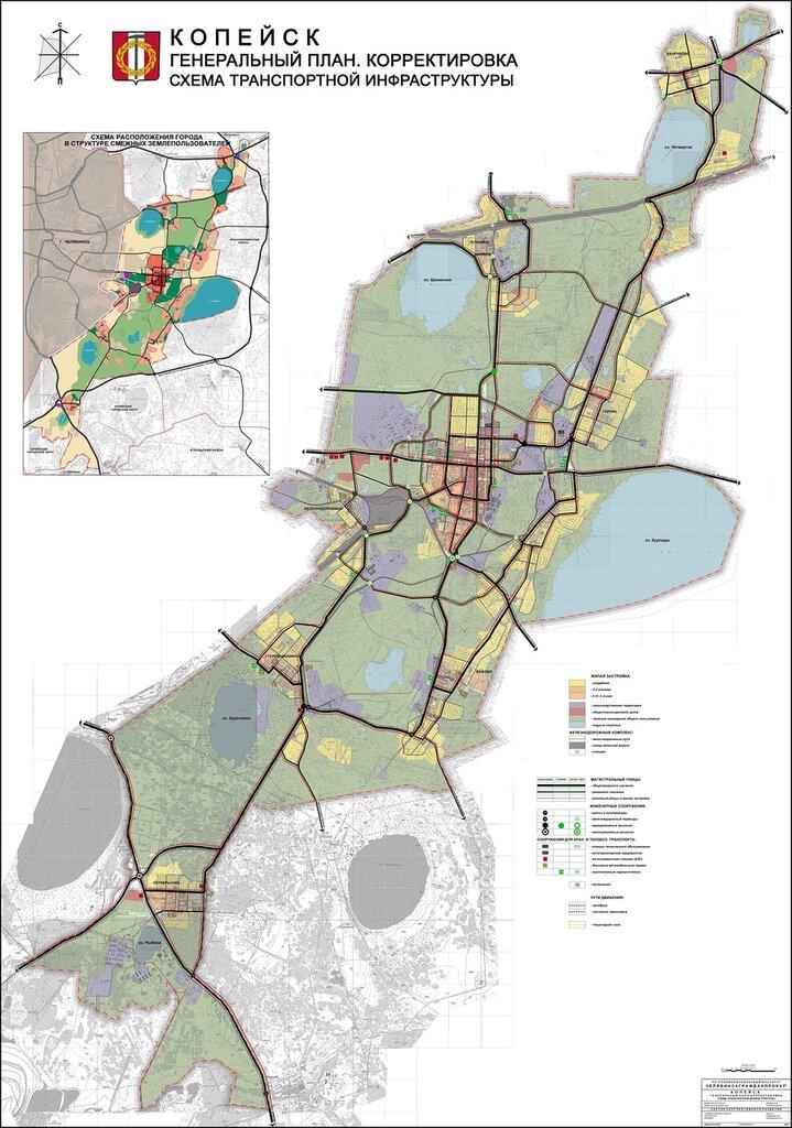 ГЕНПЛАН: Схема транспортной