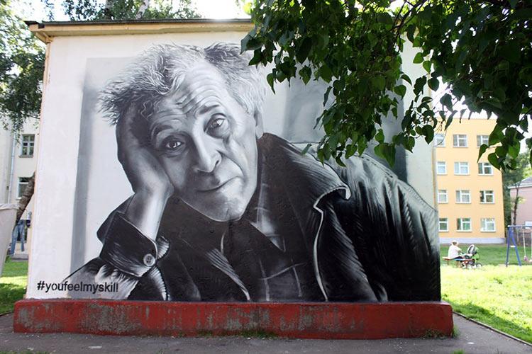В Витебске появилось граффити с портретом Марка Шагала