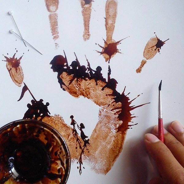 Кофейный арт от индонезийского художника Чидак аль-Низара