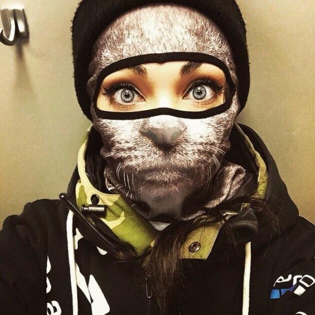 Зимние маски в виде морд животных