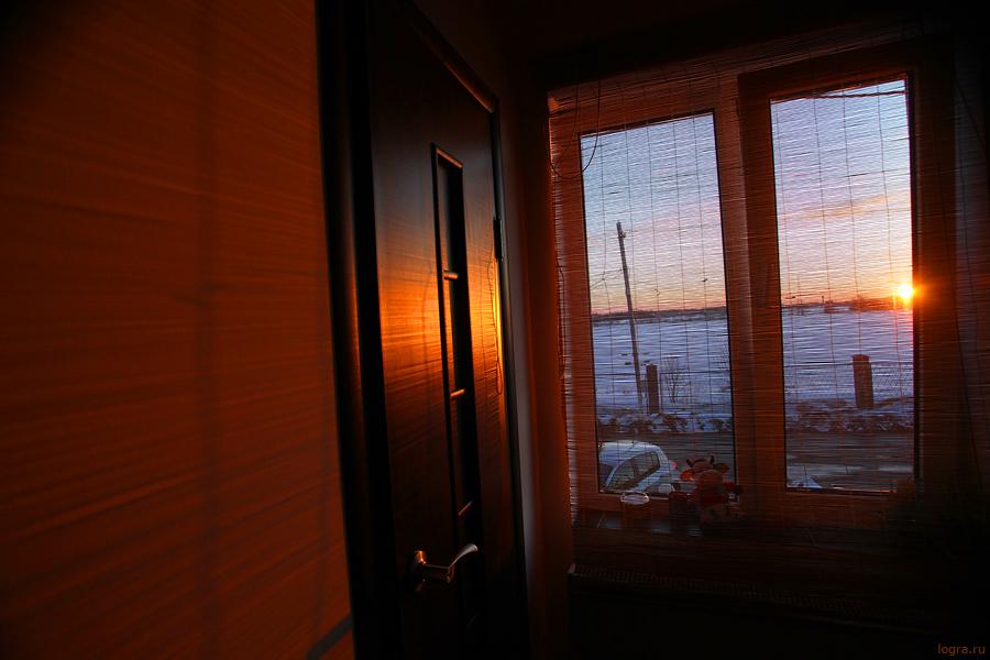 закат дома