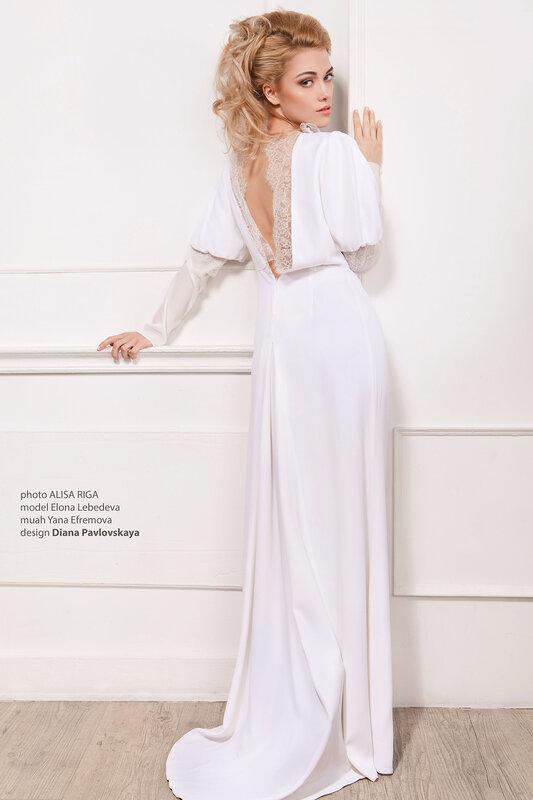 свадебное платье с кружевом в ретро стиле