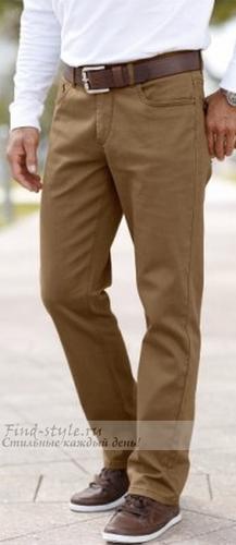 Бежево-коричневые мужские брюки