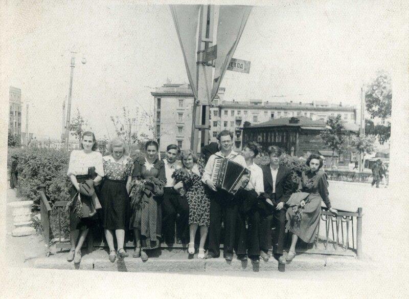 Челябинск. 1954 год. Угол улиц Свободы и Тимирязева