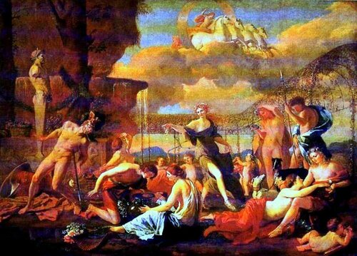 Картины старых мастеров. Никола Пуссен, Царство Флоры