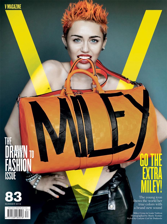 Miley Cyrus / Майли Сайрус на обложке журнала V Magazine, лето 2013 / фотограф Mario Testino