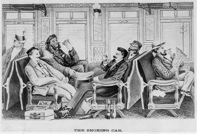 The Smoking Car 1884.