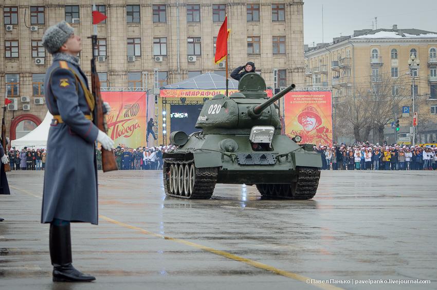 #Сталинград70 Волгоград Сталинград парад танк Т34 Т-34 Панько