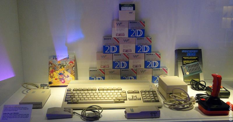 Технический музей Стокгольма. Компьютер Amiga 500