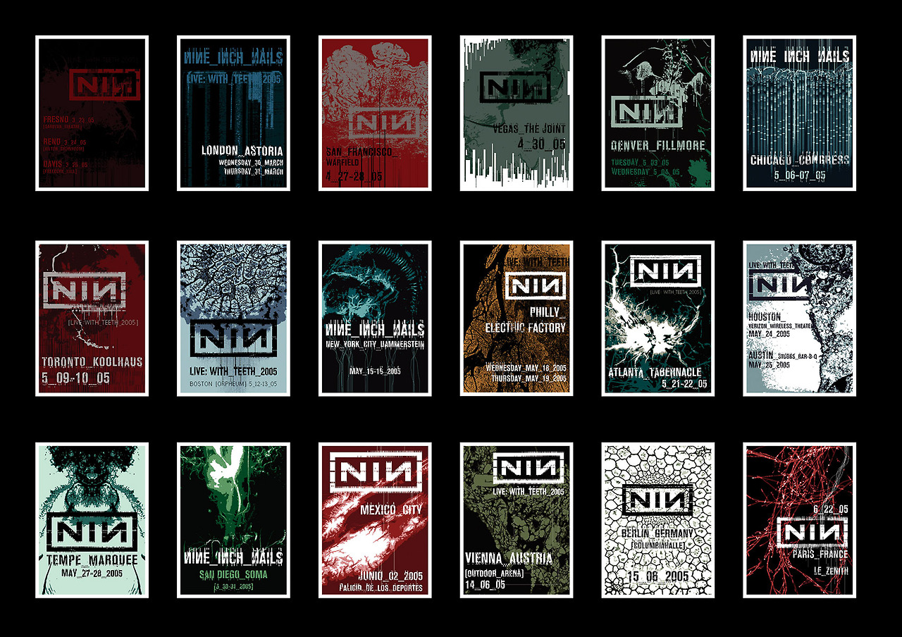 Nine Inch Nails – Limited Edition Tour Posters [2005-2006] - ILLNESS ...