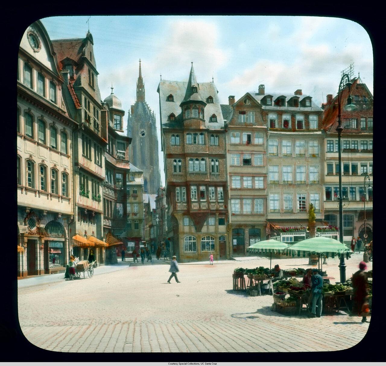 Франкфурт-на-Майне. На площади Рёмерберг