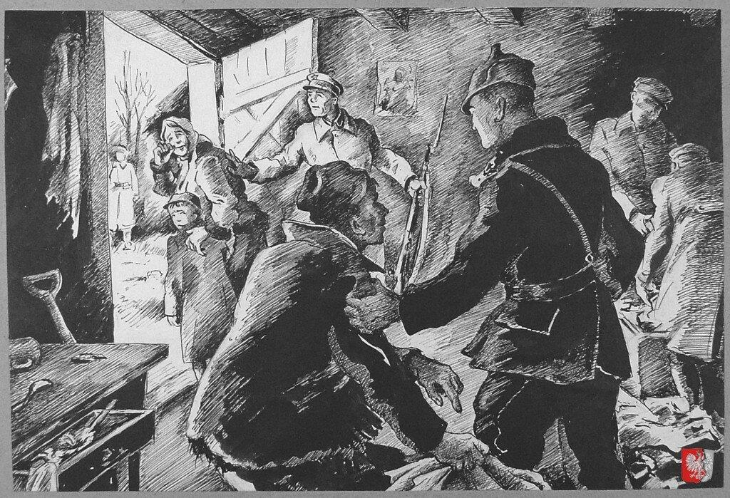 Депортация семьи из своего дома большевиками