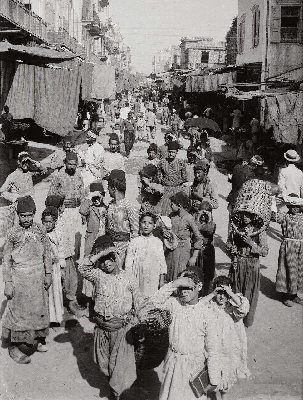 Овощной рынок. Бейрут, Ливан. 1900-1920 гг.