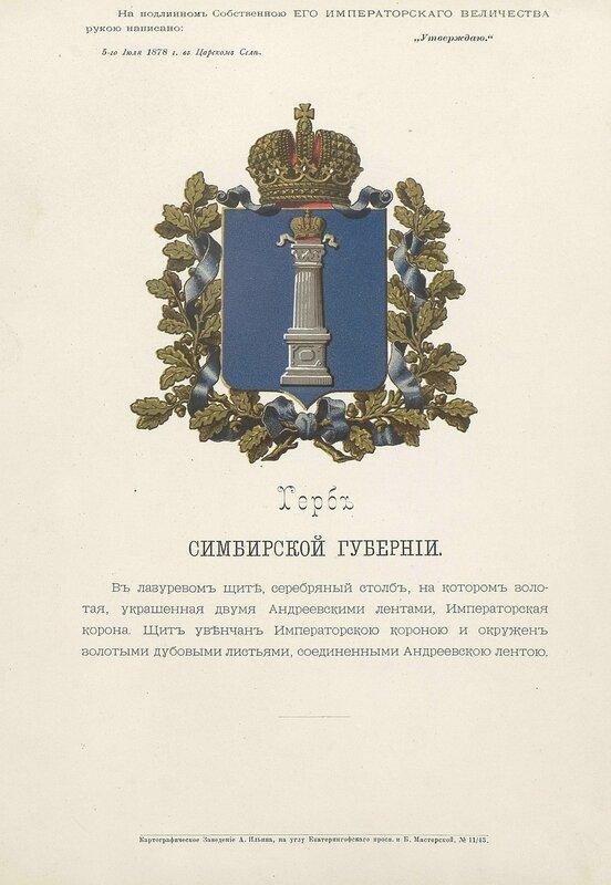 Симбирская губерния 1880 год