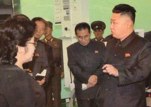 товарищ Ким Чен Ын с ответственными работниками