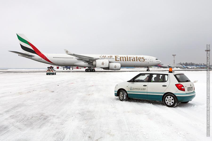 Airbus A340-541 (A6-ERD) Emirates в Домодедово