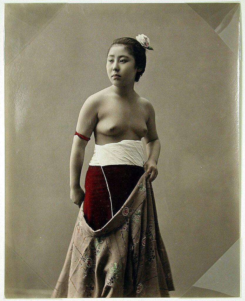 Half Clothed Woman], [ca. 1880