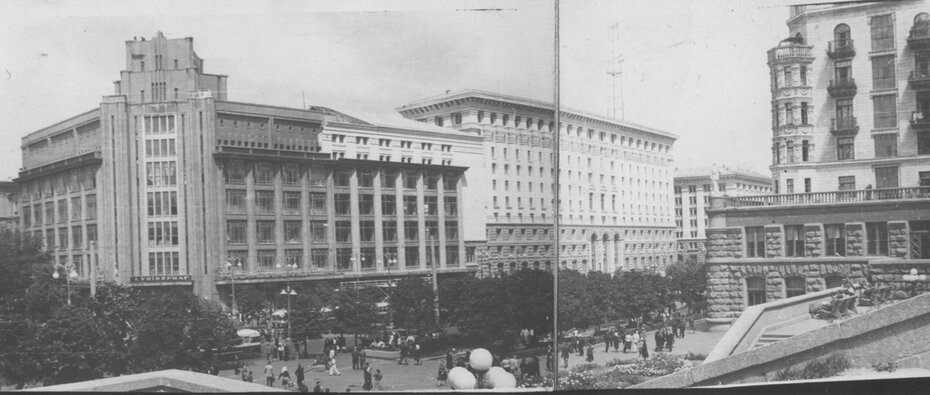 1953. Панорама части Хрещатика. Фото: Огарков В.М.