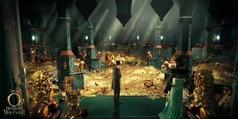 """""""OZ: THE GREAT AND POWERFUL""""James Franco, left; Rachel Weisz, right©Disney Enterprises, Inc. All Rights Reserved."""