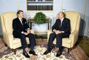 Михаил Горбачёв и Рональд Рейган, 19 ноября 1985 года, Женева, Швейцария