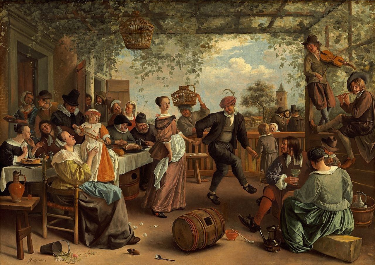 Танцующая пара. 1663, Ян Стен (1626  — 1679).The dancing couple, by Jan Steen, 1663