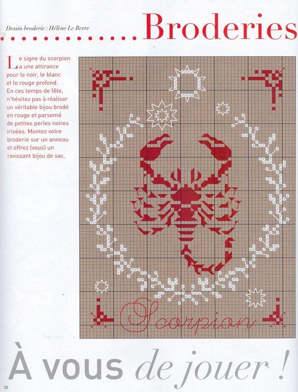 Все схемы вышивки скорпионов