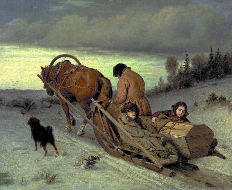Проводы покойника. 1865 Холст, масло. 43.5x57 ГТГ.jpg