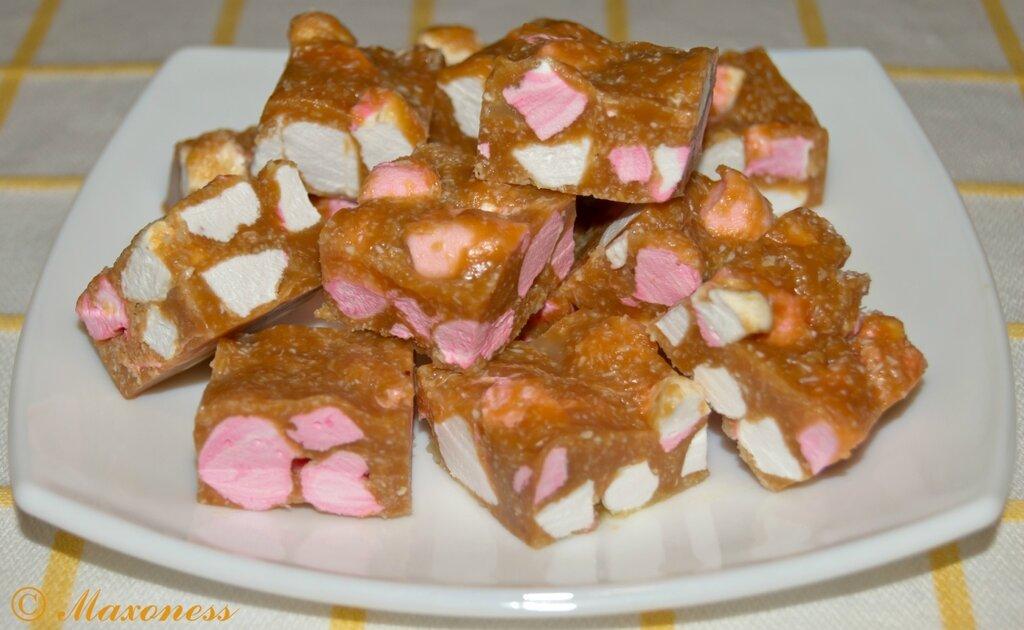Арахисовые конфеты с маршмэллоу