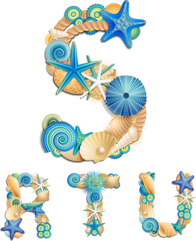 Sea life font on sand background vector (1).png