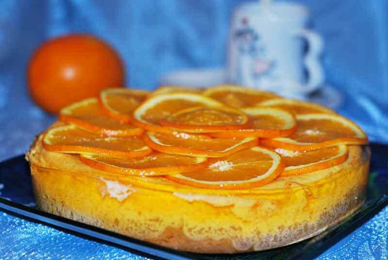 Чизкейк-торт с апельсинами