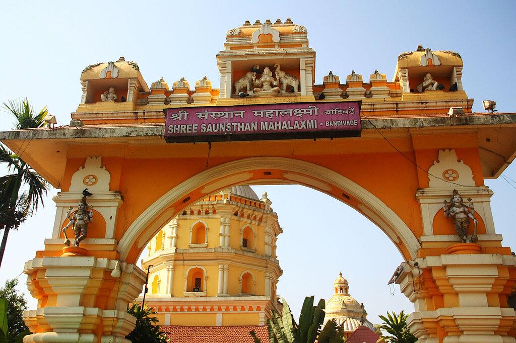 Храм Sri Saunsthan Mahalaxmi ГОА, Индия