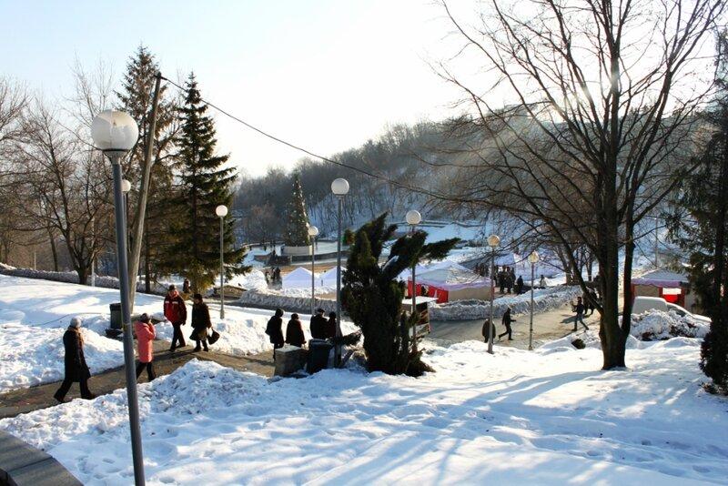 Певческое поле зимой