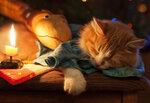 кот новогодний.