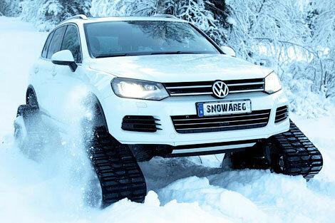 Volkswagen Touareg встал на гусеницы