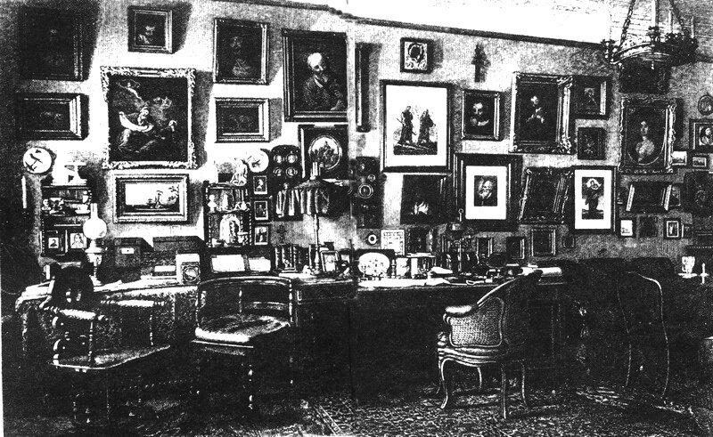 The study of Nikolai Leskov in St. Petersburg, c. 1880's