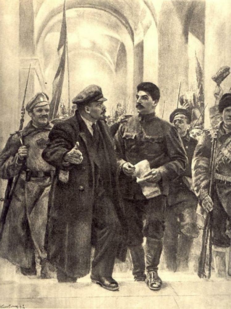 Кибрик Е. Смольный. 24 октября 1917г.