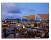 Сейшелы. О.Праслин. Raffles Praslin Seychelles. Takamaka_Terrace_Lounge