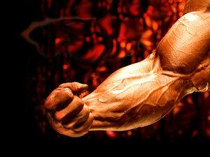 Правильное спортивное питание, спортсмен здоров и энергичен