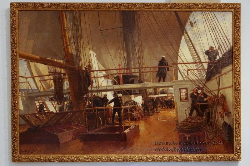 На палубе фрегата Светлана, Центральный военно-морской музей, Санкт-Петербург