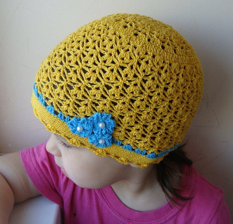 Вязание весенней шапки крючком