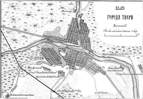 Генплан города Тулы на 1876 год
