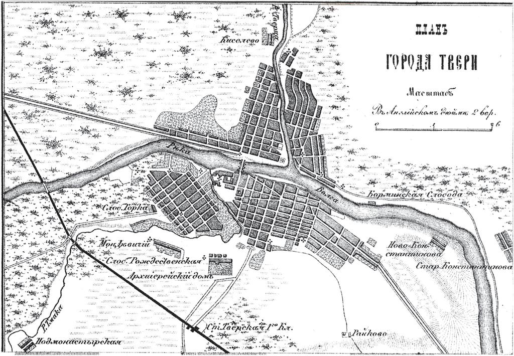 Генплан города Тулы на 1876