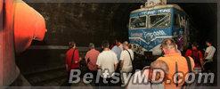 В белградском тоннеле столкнулись два поезда