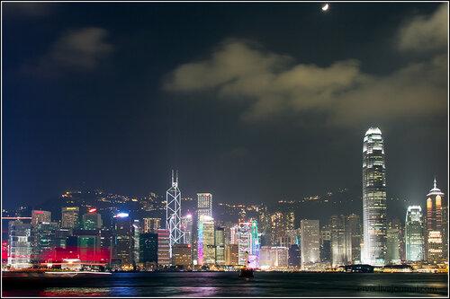 Вид на остров Гонконг с Коулуна