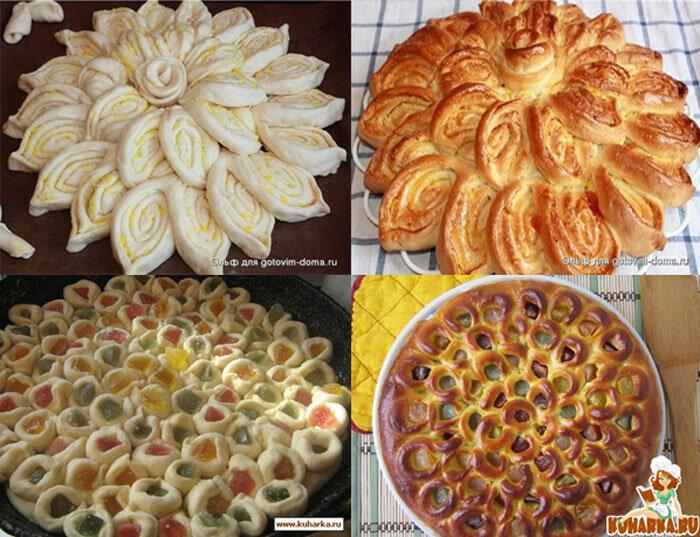 Красивое оформление дрожжевых пирогов